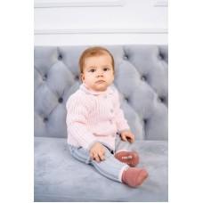 Комплект дитячий Светр+штани 0744 Рожево-сірий