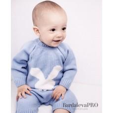Комбінезон дитячий Зайчик Блакитний 0837
