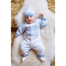 Комплект дитячий комбінезон+шапка 0840  Блакитний