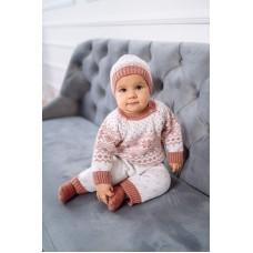 Комплект дитячий Комбінезон+шапка 0840 Пудра