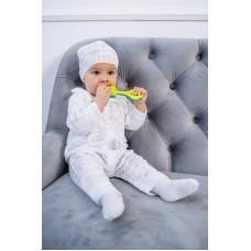 Комплект дитячий - комбінезон + шапочка 1241 Білий