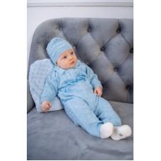 Комплект дитячий - комбінезон + шапочка 1241 Блакитний