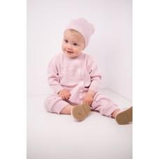Комплект дитячий комбінезон+шапка 1277 Рожевий