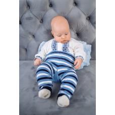 Штани у полоску дитячі Смайлик Блакитні 1250
