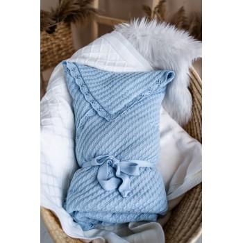 Плед-конверт дитячий на синтепоновій підкладці Блакитний 0782
