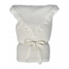 Плед-конверт дитячий на синтепоновій підкладці Білий 0782