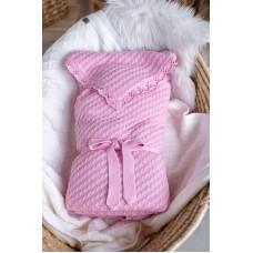 Плед-конверт дитячий на синтепоновій підкладці Рожевий 0782